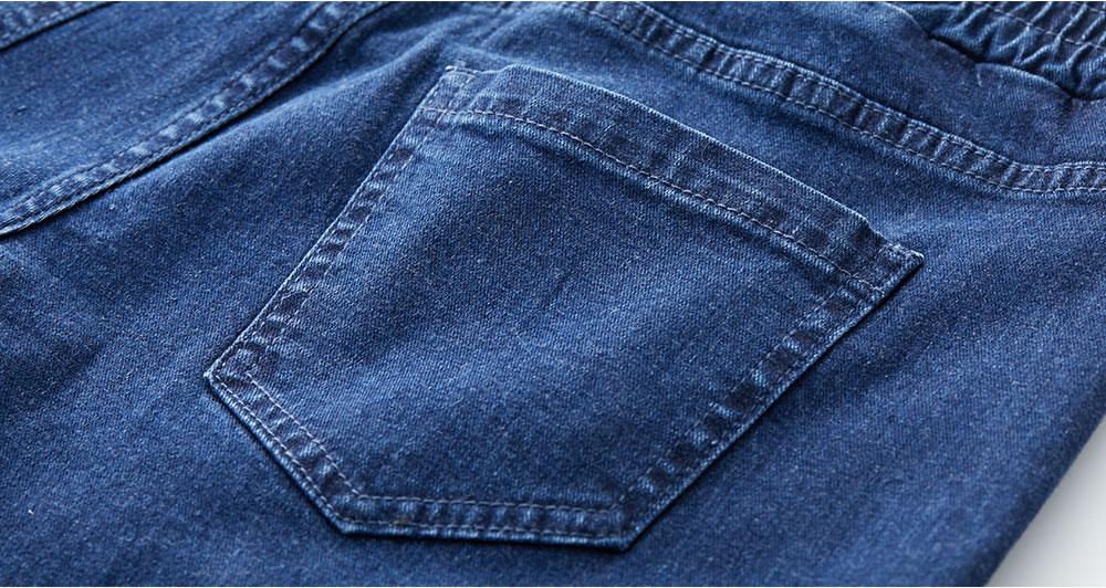 牛仔寬直筒九分孕婦褲